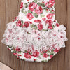 Image of Ruffled Flower Rompers