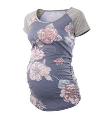 Maternity Floral Print Short Sleeve Top
