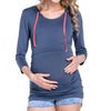 Image of Hooded Maternity/Nursing T-Shirt