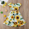 Image of 2Pcs Sunflower Dress Top + Skirt