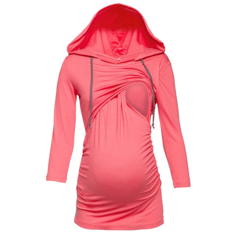 Hooded Maternity/Nursing T-Shirt