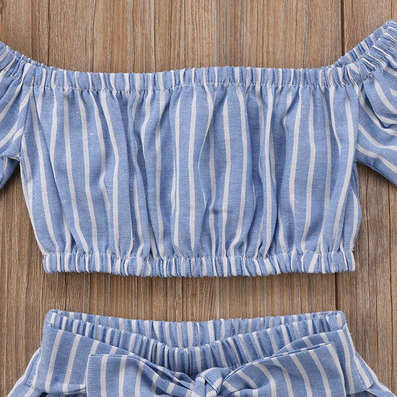 Blue Striped Set