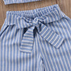 Image of Blue Striped Set