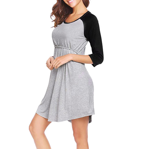 Nightgown Breastfeeding Maternity Dress