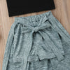 Image of GREY SKIRT SET