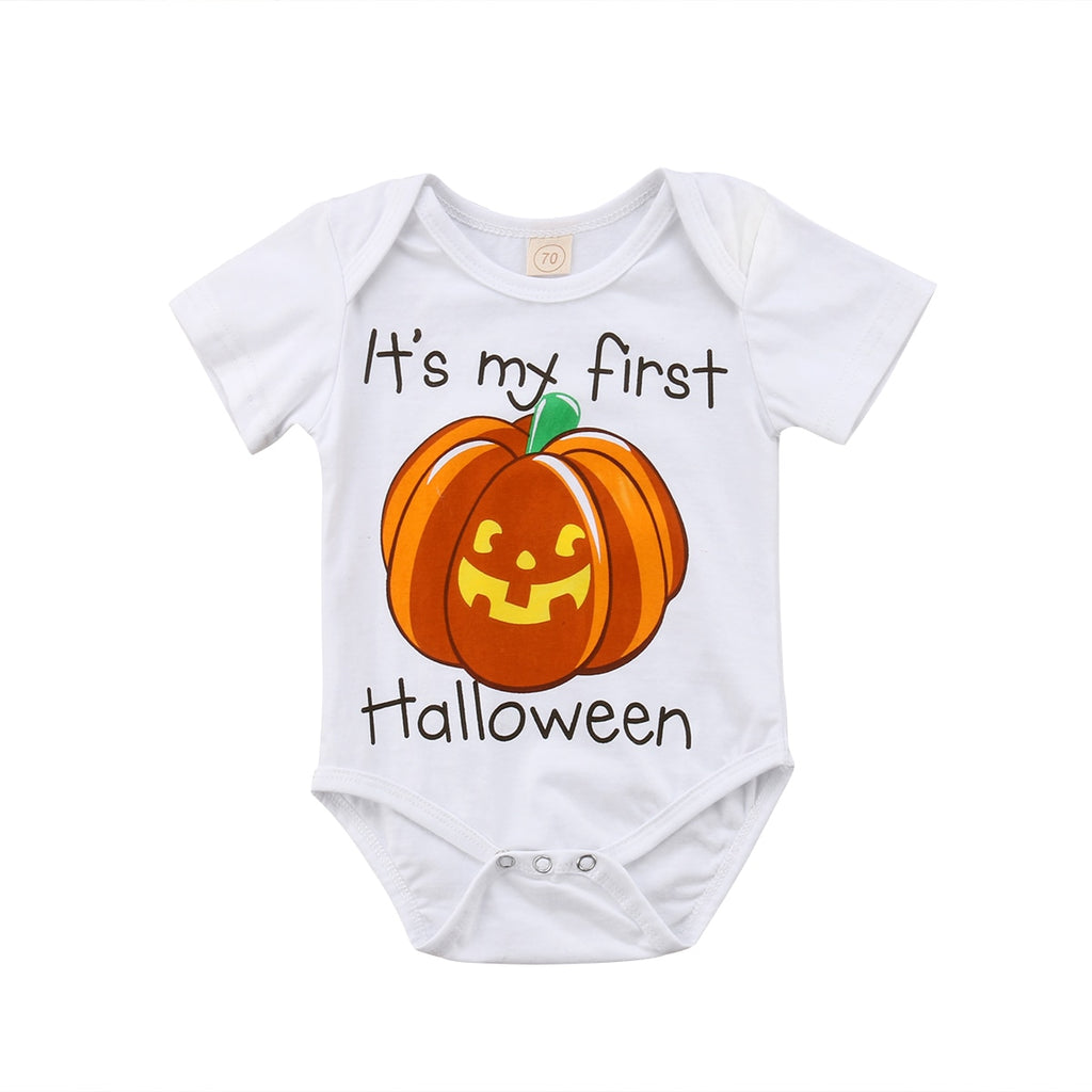 It's My First Halloween Romper