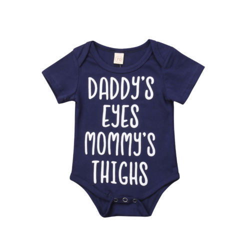 """Daddy's Eyes Mommy's Thighs"" Romper"