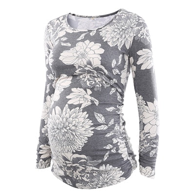 Three Pack of Floral Baseball Style Tees
