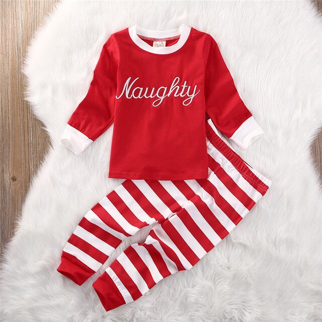 NAUGHTY OR NICE CHRISTMAS PAJAMAS