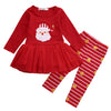 Image of 2pcs Baby Girl Christmas Clothes Set