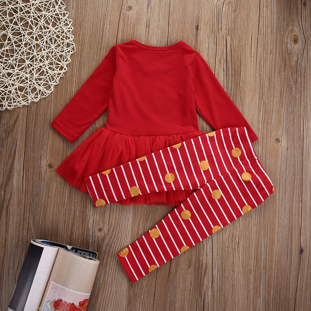 2pcs Baby Girl Christmas Clothes Set