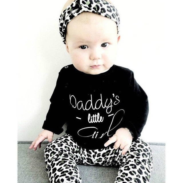 Daddy's Little Girl Leopard Set