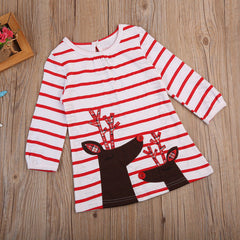 Baby Girl Christmas Deer Dress