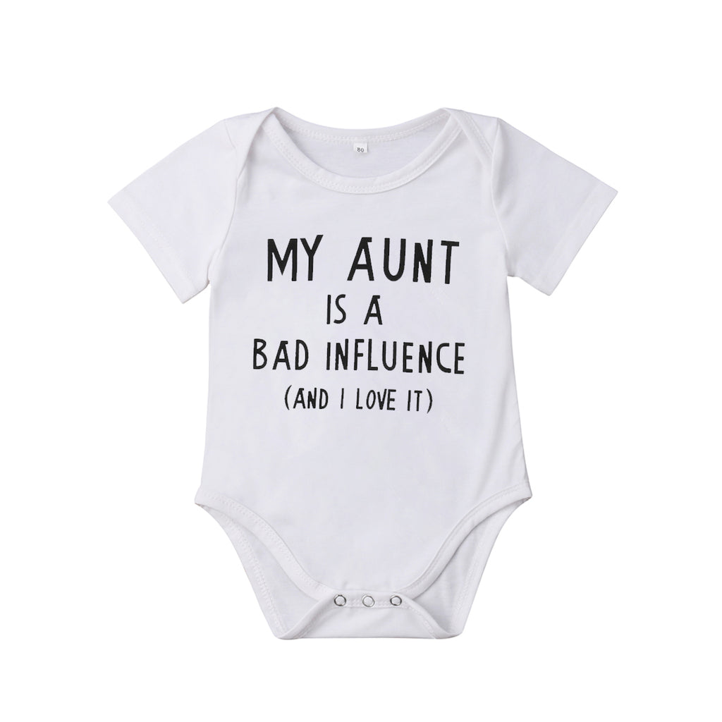 """My Aunt Is A Bad Influence"" Romper"