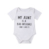 "Image of ""My Aunt Is A Bad Influence"" Romper"