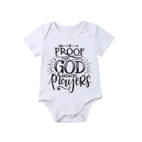 """I'm Proof That God Answers Prayers"" Romper"