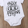 "Image of ""I'm Proof That God Answers Prayers"" Romper"