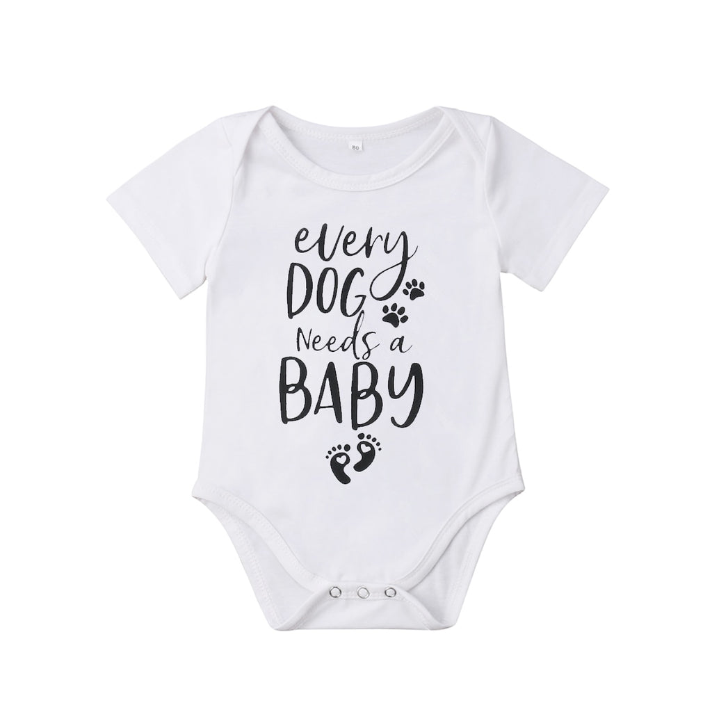 """Every Dog Needs Baby"" Romper"