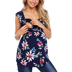 Maternity Printed Lactation Vest