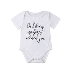 """God Knew My Heart Needed You"" Romper"