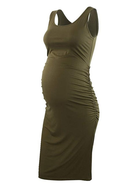Three Pack Sleeveless Fitted Maternity Dresses