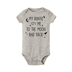 """My auntie take me to the moon and back"" Romper"