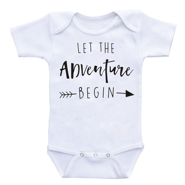 ''Let The Adventure Bigin'' Romper