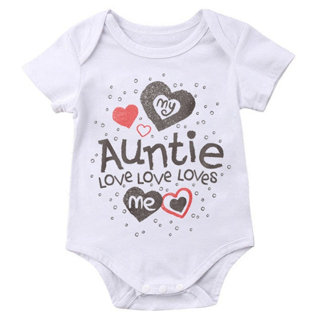 """My Auntie Love Love Loves Me"" Romper"