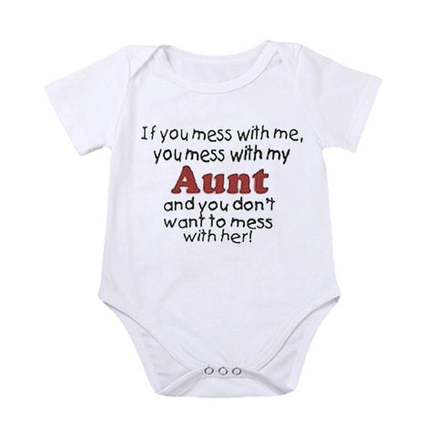 """If You Mess With Me, You Mess With My Aunt"" Romper"