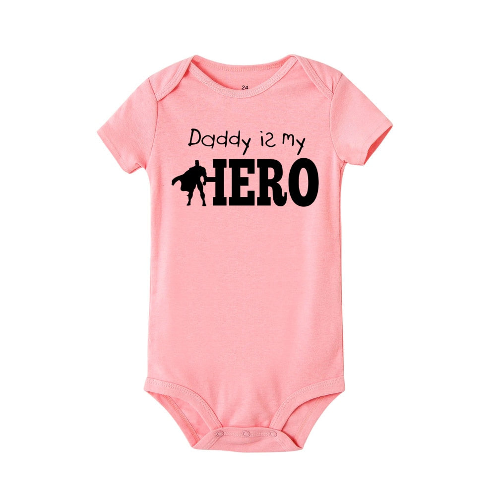"""Daddy is my hero"" Romper"