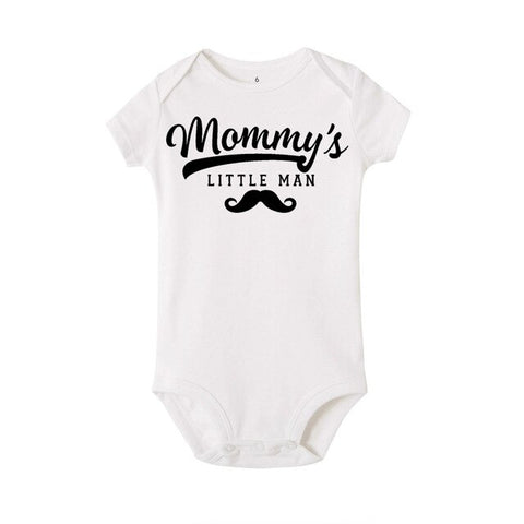 """Mommy's little man"" Romper"