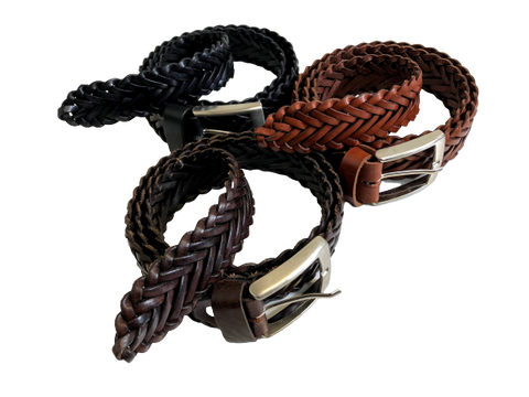 Leather Woven Belts