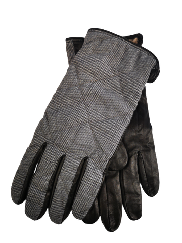 Nappa Leather Gloves with Wool Glen Check