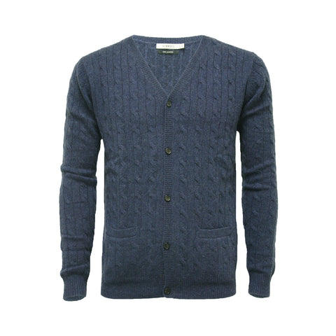 Men's Cashmere Cable Cardigan Jeans