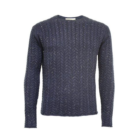 Cashmere Crew Neck Sweater Donegal Blue