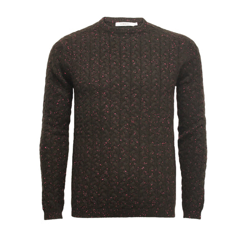 Cashmere Donegal Crew Neck Sweater