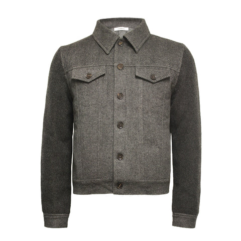 Cashmere Jeans Jacket Crawney Grey