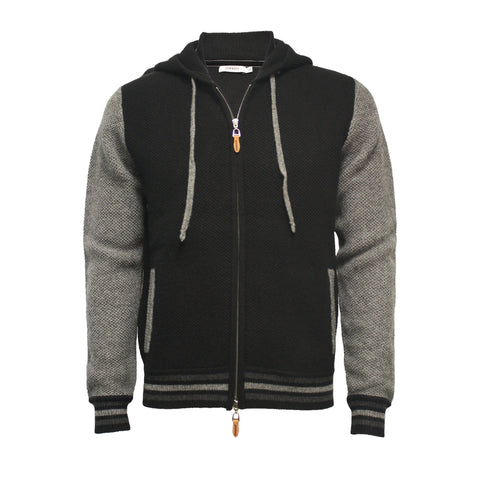 Cashmere Zipper Hooded Sweater
