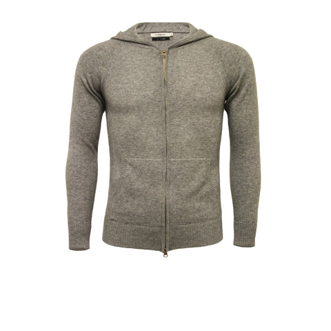 Cashmere Hooded Sweater Silver Grey
