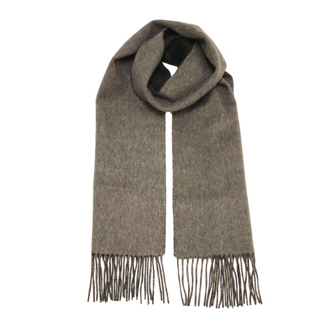 Charcoal Grey Cashmere Scarf woven double face