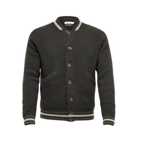 Cashmere Black Bomber Jacket Jason