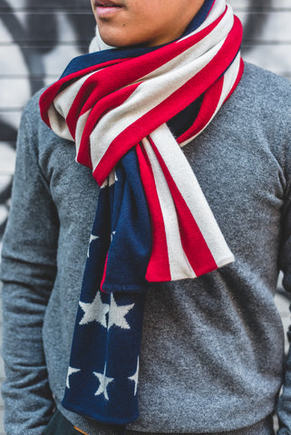 Stars and Stripes Cashmere Scarf
