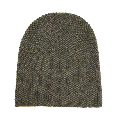 Cashmere Beanie knitted Grey