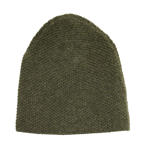 Cashmere knitted Beanie Army Green