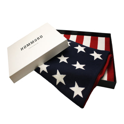 American flag knitted Cashmere Scarf - Hommard