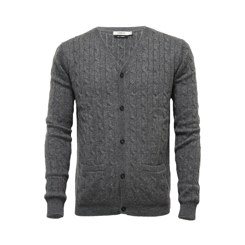 Men´s Cashmere Cardigan Cable stitch - Hommard