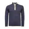 Jeans Men´s Cashmere Zip Neck Sweater Verbier in pique stitch - Hommard