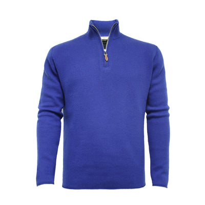 Green Men´s Cashmere fully Lined Golf Sweater half zip Orion - Hommard