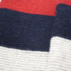 Striped knitted Cashmere Scarf Grey Red - Hommard