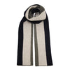 Striped knitted Cashmere Scarf Grey Black - Hommard